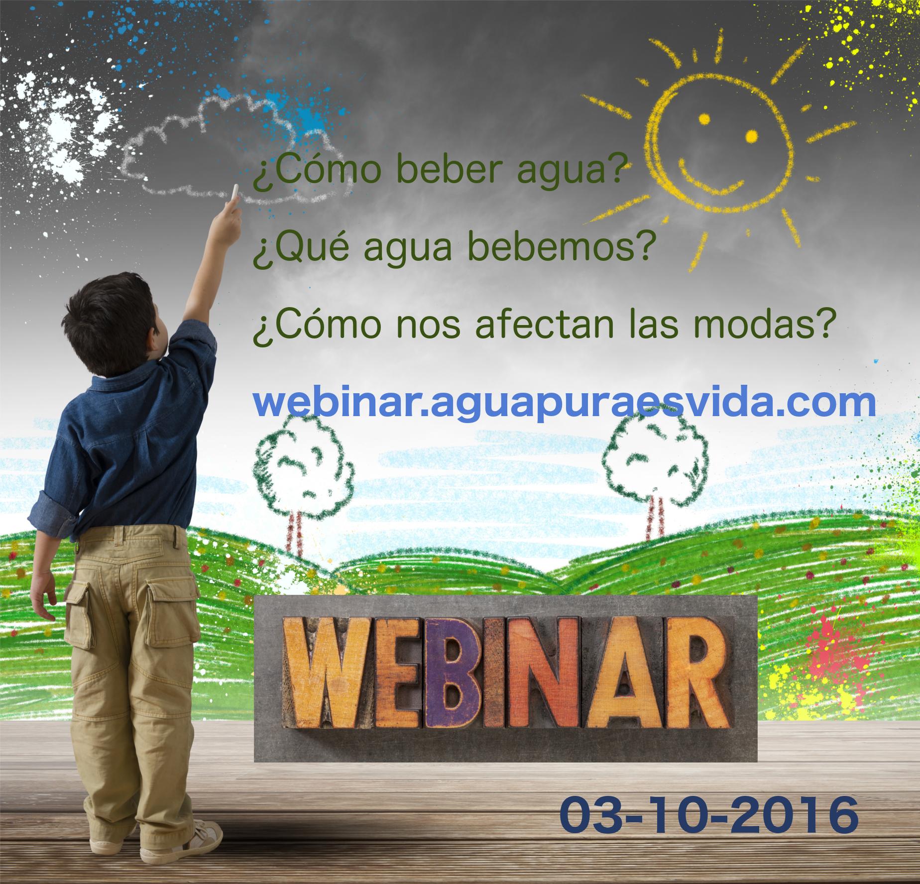 """Webinar: """"Conceptos básicos para beber agua; Método, tipología, marketing asociado""""."""
