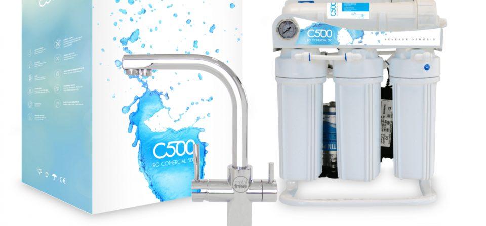 Ósmosis inversa y destilación de agua.
