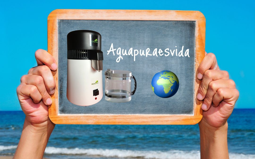 Destilador de agua MOHumans White & Black.