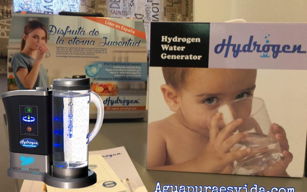Hydrogen, hidrogenador de agua. Agua hidrogenada.
